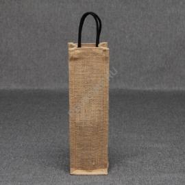 Джутовая сумка для вина 10*35*10 см