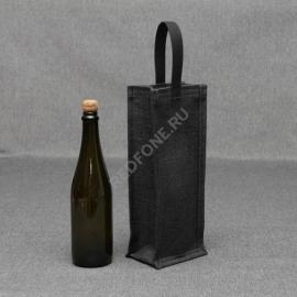 Джутовая сумка для вина 14*35*11 см