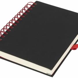 Блокнот Wiro, черный/красный