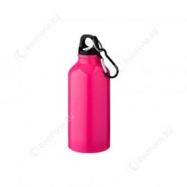 Бутылка для питья, 400 мл, неоново-розовая