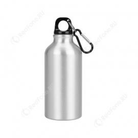 Бутылка для питья, 400 мл, серебристая
