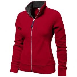 """Куртка флисовая """"Nashville"""" женская, красный/пепельно-серый"""