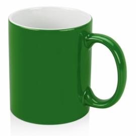 Кружка цветная снаружи 320мл, зеленый