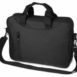 Сумка для ноутбука Wing с вертикальным наружным карманом, черный