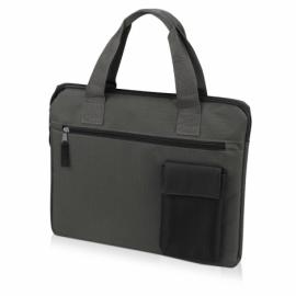 """Конференц сумка """"Session"""", серый/черный"""