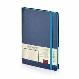 Блокнот А5 «Megapolis Soft» на резинке, синий