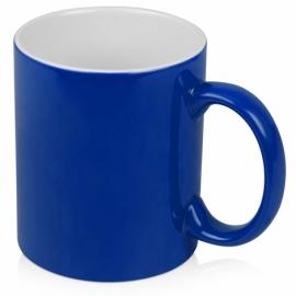 Кружка цветная снаружи 320мл, синий