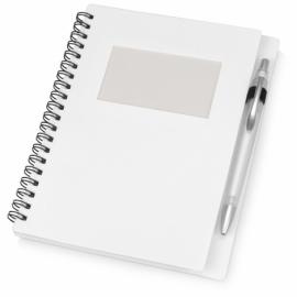 """Блокнот """"Контакт"""" с ручкой, белый"""