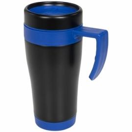 Кружка-термос Cayo 400 мл, черный/синий