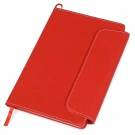 """Блокнот A5 """"Horsens"""" с шариковой ручкой-стилусом, красный"""