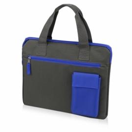 """Конференц сумка """"Session"""", серый/синий"""