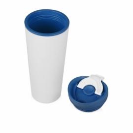 Термокружка «Brite» 500мл, белый/синий