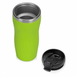 "Термокружка ""Mony Steel"" 350 мл, soft touch, зеленое яблоко"