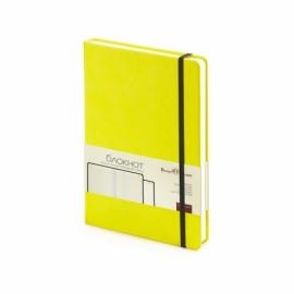 Блокнот А5 «Megapolis Velvet» на резинке, желтый