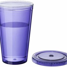 """Термостакан с соломинкой """"Cyclone"""", пурпурный"""