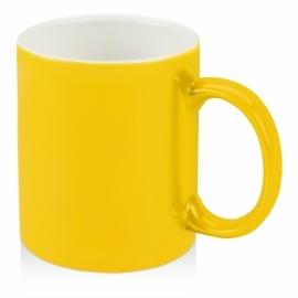 Кружка цветная снаружи 320мл, желтый