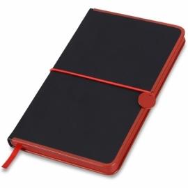 """Блокнот А5 """"Color Rim"""", черный/красный. Lettertone"""