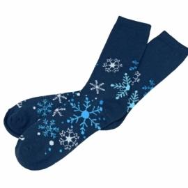 Новогодние носки синие, женские