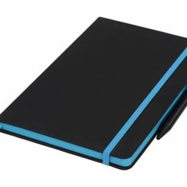 Блокнот Noir Edge среднего размера, черный/синий