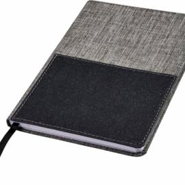 Блокнот Mera RPET размераA5 с передним карманом, серый