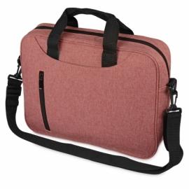 Сумка для ноутбука Wing с вертикальным наружным карманом, красный