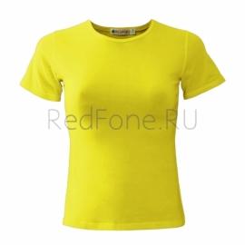 """Футболка женская """"REDFORT"""",  лимонная"""