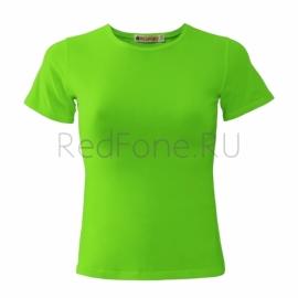 """Футболка женская """"REDFORT"""",  зеленое яблоко"""