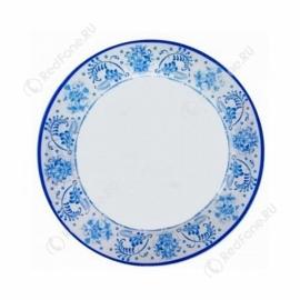 """Печать на тарелке 2D """"Гжель"""" D 200 мм"""