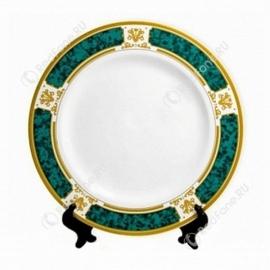 """Печать на тарелке 2D """"Зеленый мрамор с золотом"""" D 200 мм"""