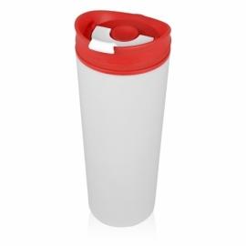 Термокружка «Brite» 500мл, белый/красный