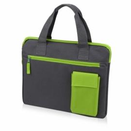 "Конференц сумка ""Session"", серый/зеленый"