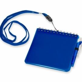 """Блокнот А6 """"Журналист"""" с ручкой, синий"""