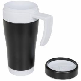 Кружка-термос Cayo 400 мл, черный/белый