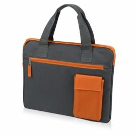"Конференц сумка ""Session"", серый/оранжевый"