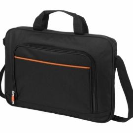 """Сумка """"Harlem"""" для ноутбука 14"""", черный/оранжевый"""