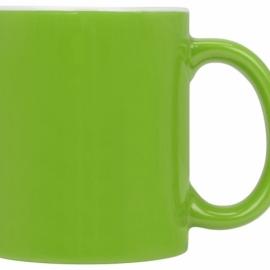 Кружка цветная снаружи 320мл, зеленое яблоко