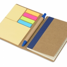 """Набор стикеров """"Write and stick"""" с ручкой и блокнотом, синий"""