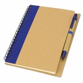 """Блокнот """"Priestly"""" с ручкой, синий"""