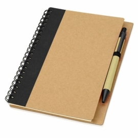 """Блокнот """"Priestly"""" с ручкой, черный"""