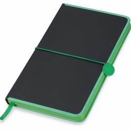 """Блокнот """"Color Rim"""", черный/зеленый. Lettertone"""