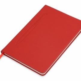 """Блокнот А5 """"Magnet"""" 14,3*21 с магнитным держателем для ручки, красный"""