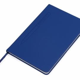 """Блокнот А5 """"Magnet"""" 14,3*21 с магнитным держателем для ручки, синий"""