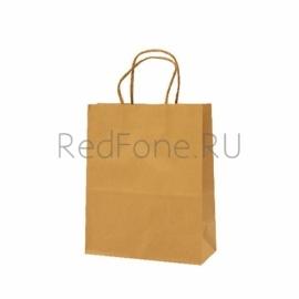 Крафт пакет 20*26*11 см, коричневый