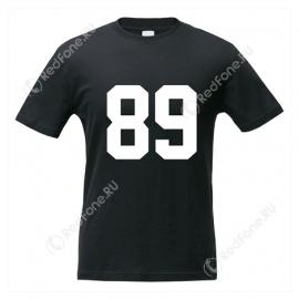 Футболка с номером, черная