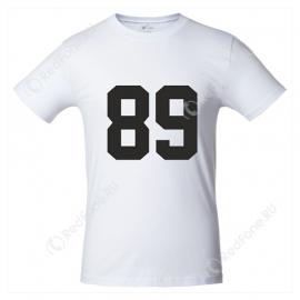 Футболка с номером, белая