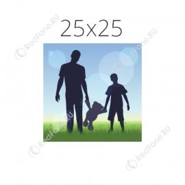 Печать фото 25х25